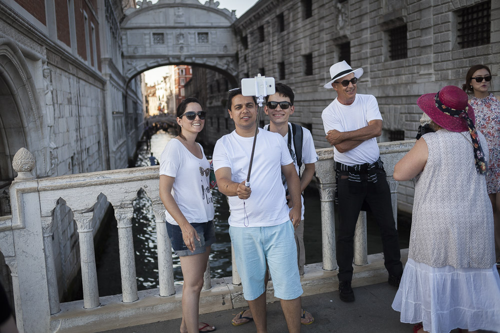 Selfie sticks were as ubiquitous as they looked stupid.